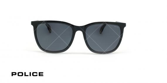 عینک آفتابی پلیس - POLICE SPL671G -فریم مشکی- عکاسی وحدت - زاویه روبرو