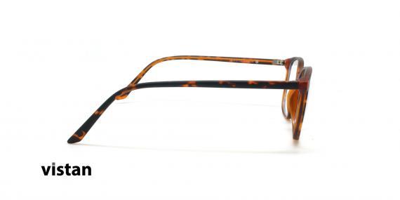 عینک آماده بلوکنترل مربعی ویستان VISTAN OB1028 XL - قهوه ای هاوانا - عکاسی وحدت - زاویه کنار