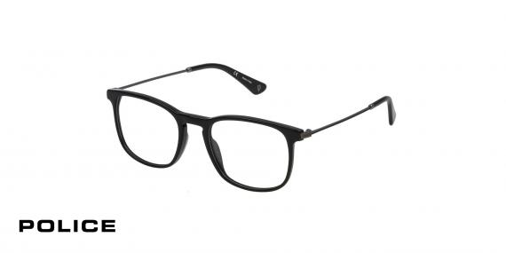 عینک طبی پلیس - POLICE VPL562 - رنگ فریم مشکی  - اپتیک وحدت - عکس زاویه سه رخ