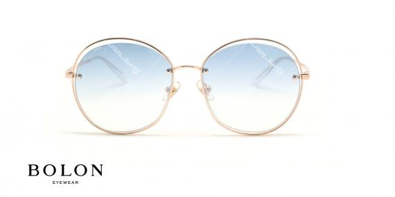 عینک آفتابی پروانه ای بولون - BOLON BL7086 - طلایی - عکاسی وحدت - زاویه روبرو