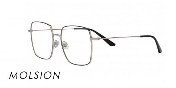 عینک مربعی مولسیون - MJ7089 - رنگ فریم نقره ای - اپتیک وحدت - عکس زاویه سه رخ