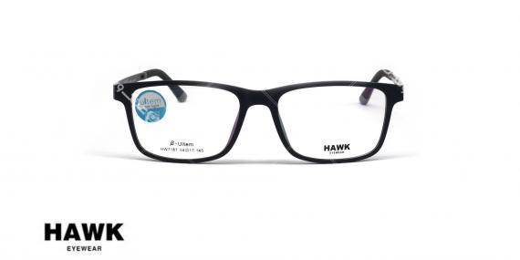 عینک طبی رویه دار هاوک - HAWK HW7187-رنگ مشکی - عکاسی وحدت - عکس از زاویه روبرو