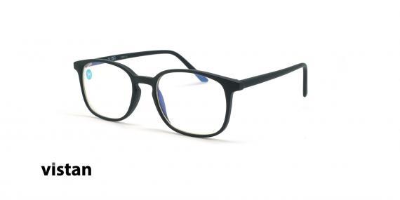 عینک آماده بلوکنترل مربعی ویستان VISTAN OB0801 - مشکی - عکاسی وحدت - زاویه سه رخ