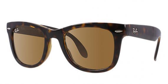 عینک آفتابی مدل ویفرر تاشو ری بن - رنگ قهوه ای