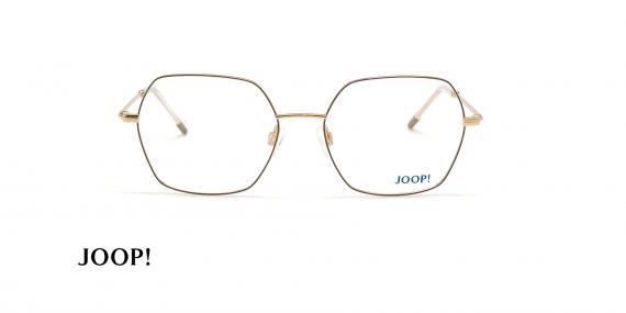 عینک طبی چند ضلعی جوپ - JOOP 83254 -مشکی طلایی - عکاسی وحدت - زاویه روبرو