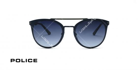 عینک آفتابی پلیس - POLICE SPL491 -فریم مشکی- عکاسی وحدت - زاویه روبرو