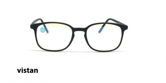 عینک آماده بلوکنترل مربعی ویستان VISTAN OB0801 - مشکی - عکاسی وحدت - زاویه روبرو
