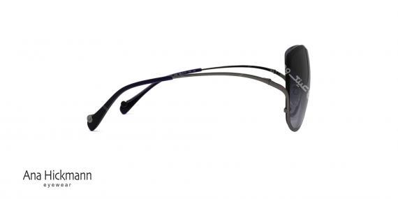 عینک آفتابی بالا گریف آناهیکمن - بدنه نوک مدادی - عدسی بادمجونی طیف دار - عکاسی وحدت - زاویه کنار