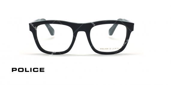 عینک طبی پلیس سری لوئیس همیلتون - Lewis 15 - کائوچویی مشکی پهن -  عکاسی وحدت - زاویه روبرو