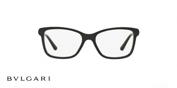 عینک طبی کائوچویی بولگاری - مشکی رنگ - زاویه روبرو