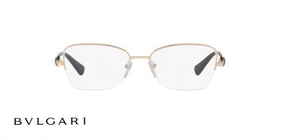 عینک طبی زیرگریف طلایی رنگ بولگاری - زاویه روبرو