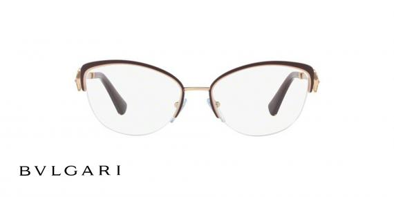 عینک طبی زیرگریف طلای مشکی بولگاری - زاویه روبرو