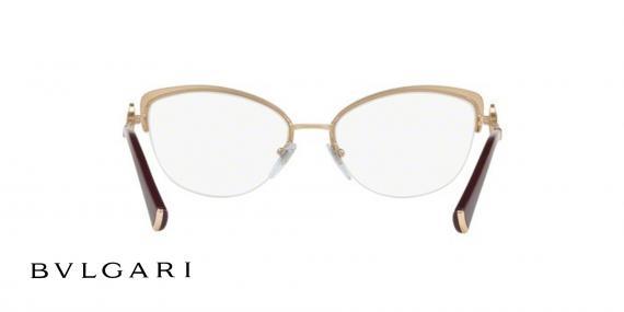 عینک طبی زیرگریف طلای مشکی بولگاری - زاویه داخل