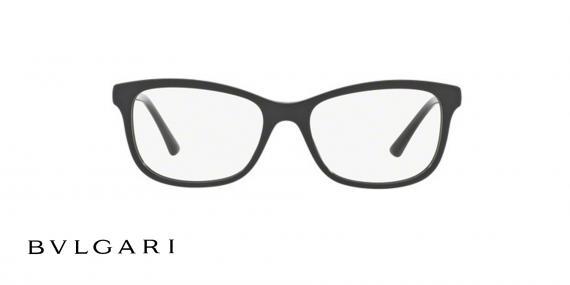 عینک طبی کائوچویی مشکی رنگ بولگاری - زاویه روبرو