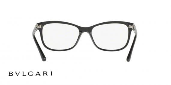 عینک طبی کائوچویی مشکی رنگ بولگاری - زاویه داخل