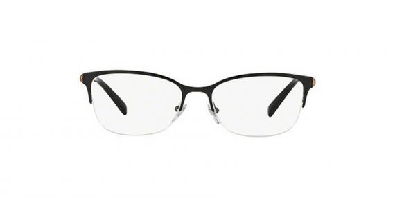عینک طبی زیرگریف بولگاری - رنگ مشکی - عکاسی وحدت - زاویه روبرو