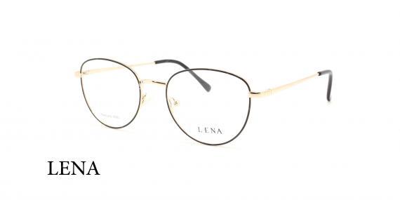 عینک طبی چندضلعی لنا - LENA LE451 - رنک طلایی - عکاسی وحدت - عکس زاویه سه رخ