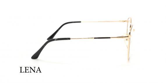 عینک طبی لنا -LENA LE452 - فریم طلایی - عکاسی وحدت - عکس زاویه کنار