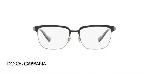عینک طبی فلزی Dolce & Gabbana - رنگ مشکی نوک مدادی - زاویه روبرو