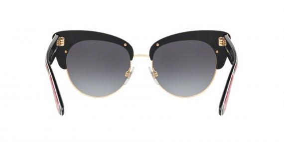عینک آفتابی طرح گلدار مشکی صورتی دولچه گابانا