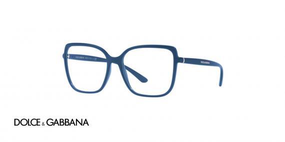 عینک طبی مربعی شکل بزرگ سرمه ای رنگ دولچه گابانا - زاویه سه رخ