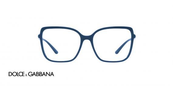 عینک طبی مربعی شکل بزرگ سرمه ای رنگ دولچه گابانا - زاویه روبرو