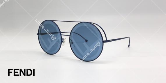 عینک آفتابی Fendi - بدنه مشکی عدسی ها آبی - عکاسی وحدت - زاویه سه رخ