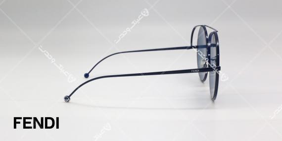 عینک آفتابی Fendi - بدنه مشکی عدسی ها آبی - عکاسی وحدت - زاویه کنار