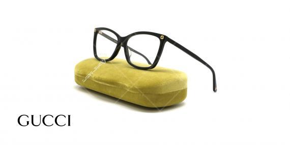 عینک طبی گربه ای گوچی - GUCCI GG0025O - عکاسی وحدت - عکس زاویه سه رخ