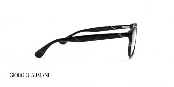 عینک طبی کائوچویی جورجیو ارمانی - رنگ بدنه مشکی - عکاسی وحدت - زاویه کنار