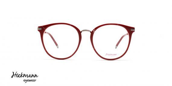 عینک طبی کائوچویی هیکمن - رنگ بدنه قرمز - عکاسی وحدت - زاویه رو به رو