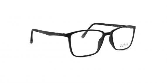 زینیا عینک طبی مشکی مستطیلی شکل - زاویه سه رخ