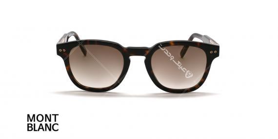 عینک آفتابی ویفیرر مون بلان - MONTBLANC WAFARER MB693- قهوه ای هاوانا - عکاسی وحدت اپتیک - عکس زاویه روبرو