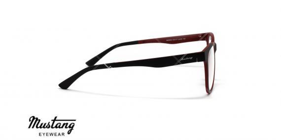 عینک طبی با رویه آفتابی موستانگ - MUSTANG MU6933- عکاسی وحدت-فریم مشکی قرمز - عکس زاویه کنار