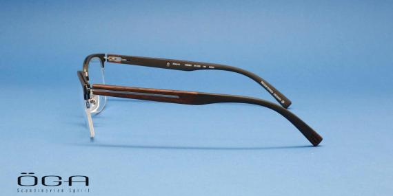 عینک طبی طرح کلاب مستر دسته چوبی اوگا فرانسه - عکاسی وحدت - زاویه کنار