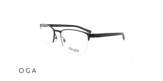 عینک طبی اگا - زیر گریف  رنگ مشکی - زاویه سه رخ