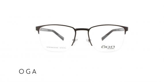 عینک طبی اگا - زیر گریف  رنگ مشکی - زاویه روبرو