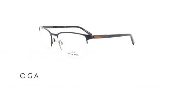 عینک طبی زیرگریف اگا - بدنه نوک مدادی - زاویه سه رخ