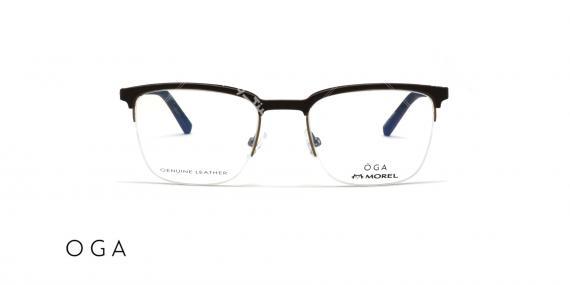 عینک طبی OGA - زیر گریف چوبی - عکاسی وحدت - زاویه روبرو