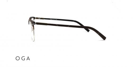 عینک طبی OGA - زیر گریف چوبی - عکاسی وحدت - زاویه کنار