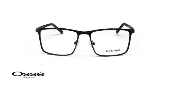 عینک طبی فلزی رویه دار اوسه - OSSE OS11978 - رنگ مشکی - عکاسی وحدت - عکس زاویه روبرو
