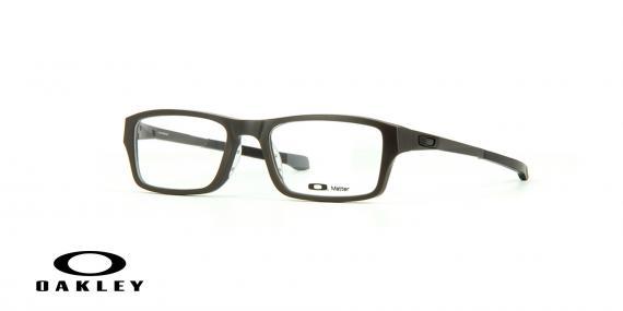 عینک طبی اوکلی بیس دار مستطیلی شکل مشکلی رنگ - ویژه فروش آنلاین - زاویه سه رخ