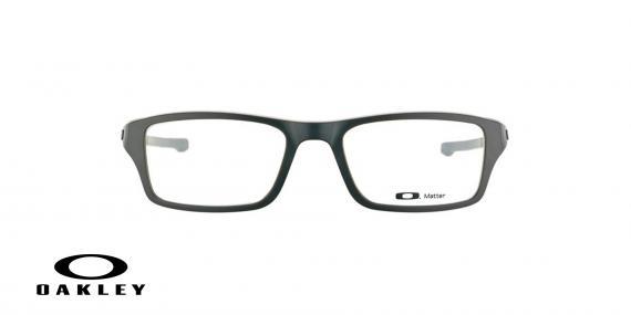 عینک طبی اوکلی بیس دار مستطیلی شکل مشکلی رنگ - ویژه فروش آنلاین - زاویه روبرو