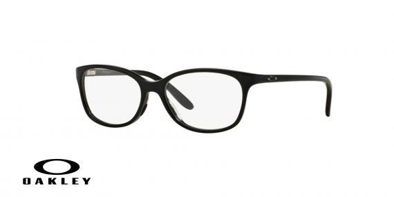 عینک طبی اوکلی بیضی شکل مشکی رنگ - ویژه فروش آنلاین - زاویه سه رخ