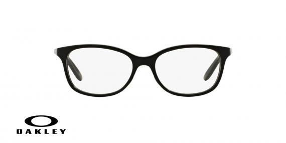 عینک طبی اوکلی بیضی شکل مشکی رنگ - ویژه فروش آنلاین - زاویه روبرو
