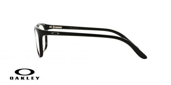 عینک طبی اوکلی بیضی شکل مشکی رنگ - ویژه فروش آنلاین - زاویه کنار