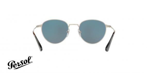 عینک آفتابی فلزی نقره ای با عدسی های آبی رنگ Persol - زاویه داخل