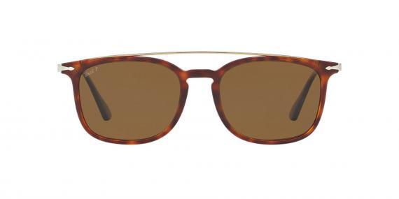 عینک آفتابی کائوچویی پرسول، رنگ قهوه ای هاوانا - عدسی قهوه ای - عکاسی وحدت - زاویه کنار