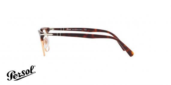 عینک طبی کلاب مستر پرسول رنگ هاوانا - زاویه کنار