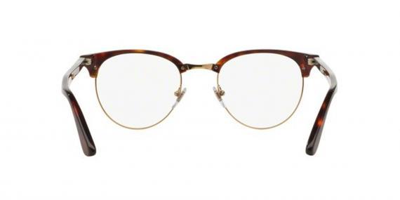 عینک طبی کلاب راند پرسول رنگ قهوه ای هاوانا - عکاسی وحدت -